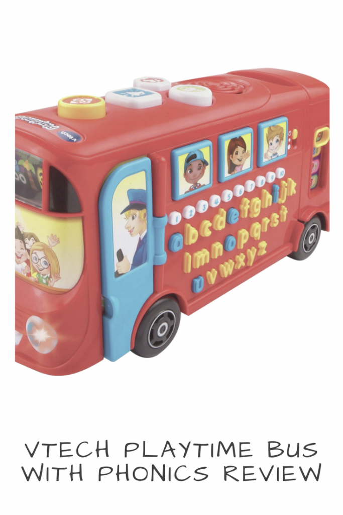 Vtech Playtime Bus with Phonics Review #vtech #preschool