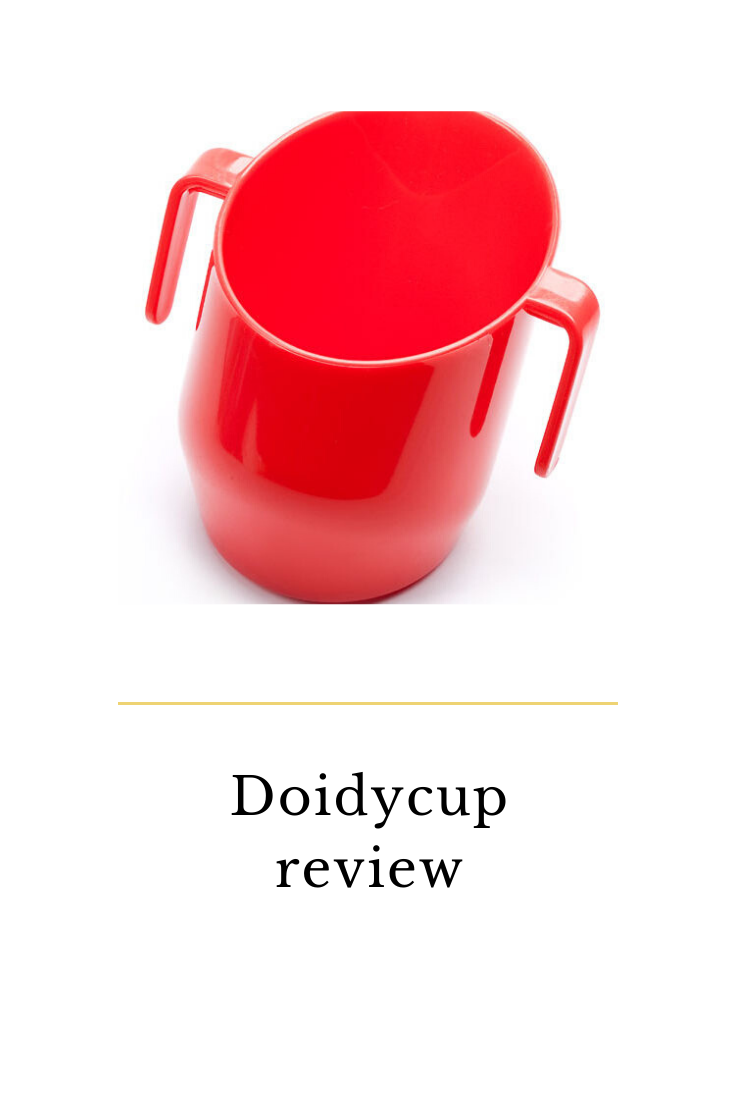 doidycup review. Made from food safe material and developed in the 1950s to teach baby's to drink from a rim rather than a spout.