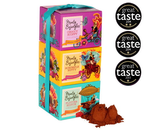 Monty Bojangles towering dusted truffle gift