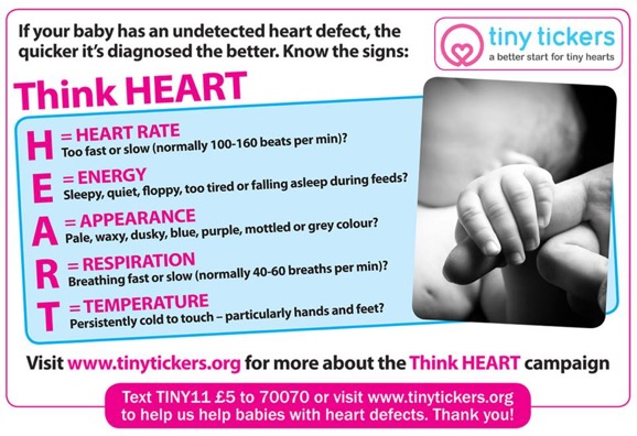 think heart slogan for congenital heart defects