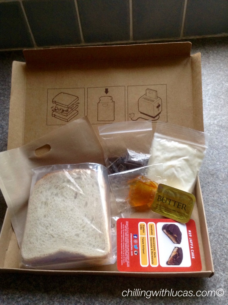 Cheese postie box with all the ingredients to make
