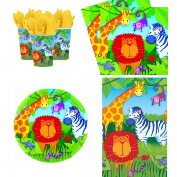 Party bags and supplies safari animal pack