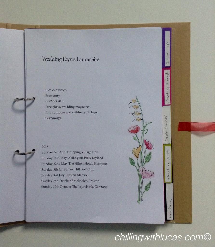 Wedding planner file