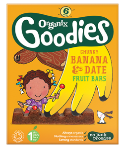 Organix banana and date fruit bars