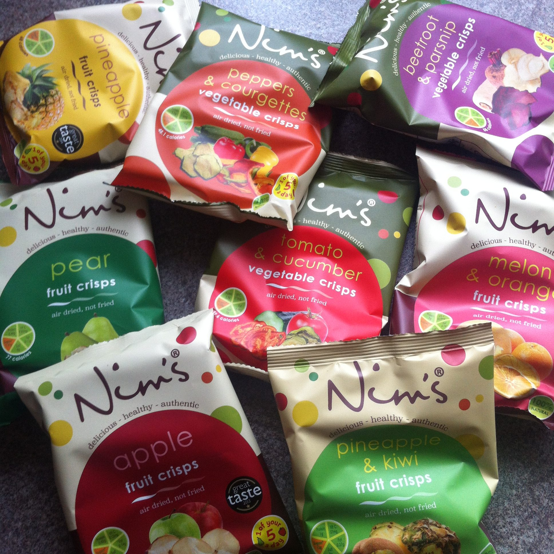 Nim's fruit and vegetable crisps review