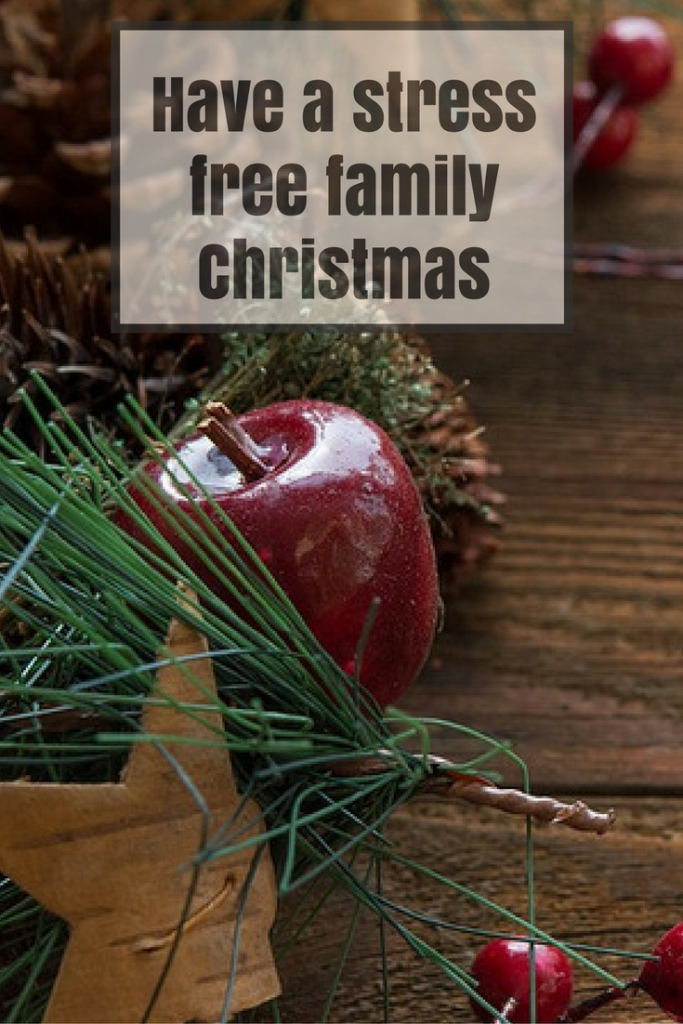 Tips for a stress free Christmas Pinterest graphic