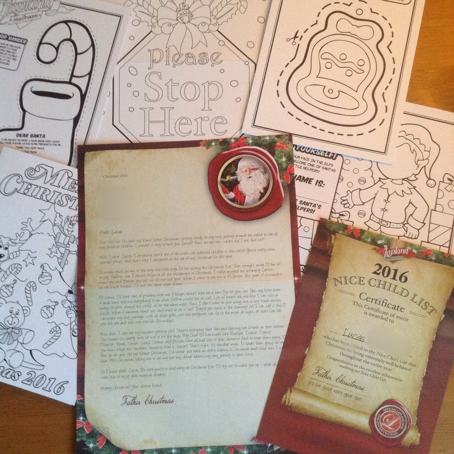 Lapland Mailroom Review Letter and activity pack