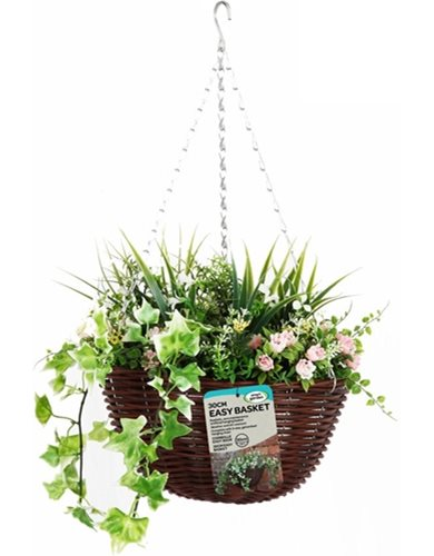 Lazy gardeners hanging basket artificial flowers