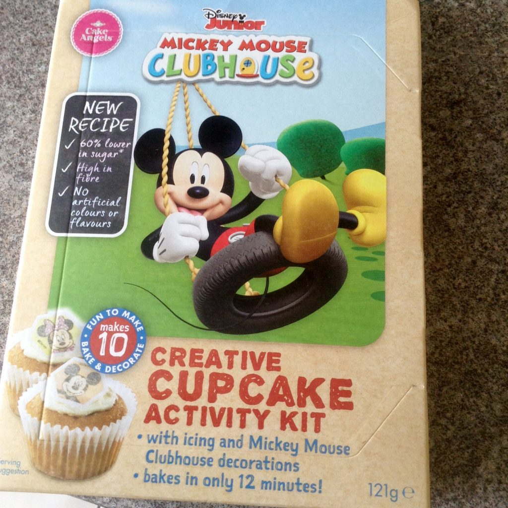 baking Mickey Mouse fairy cakes