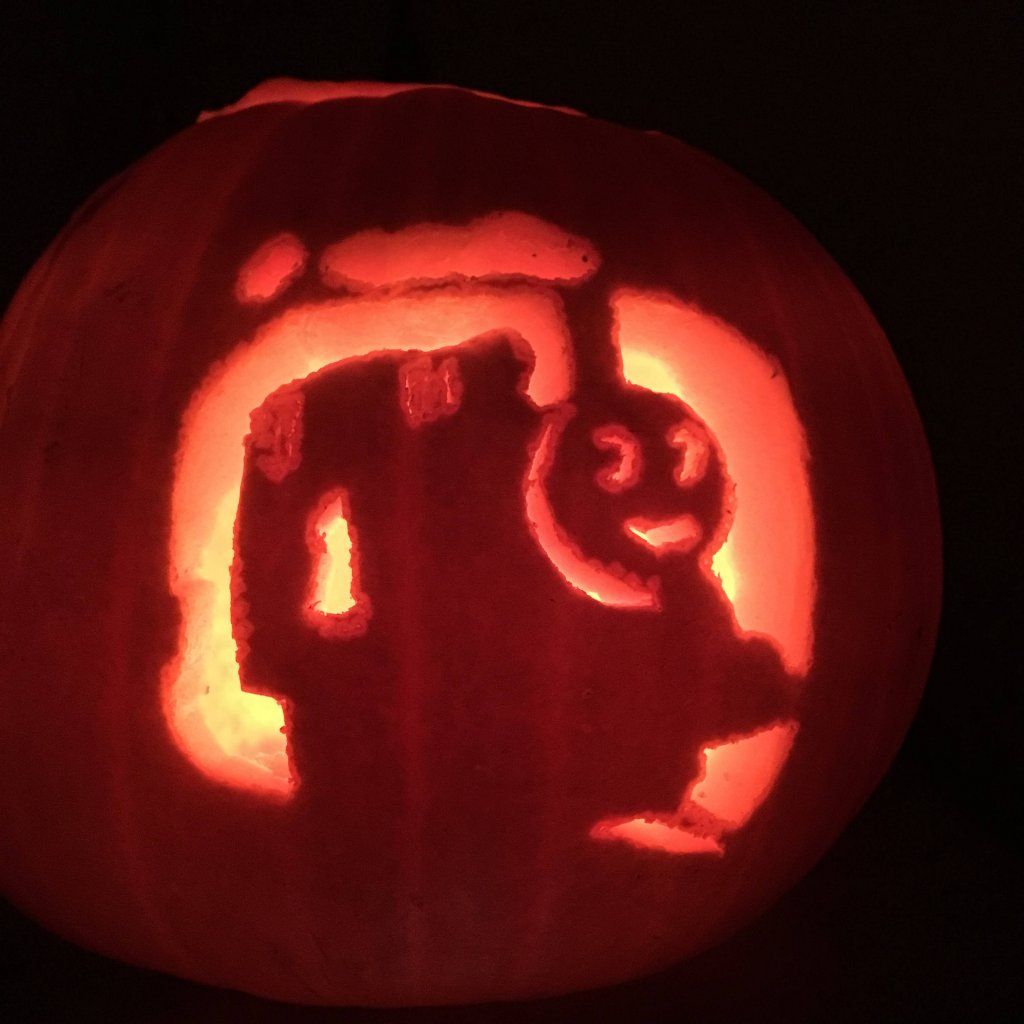 Thomas the tank engine pumpkin