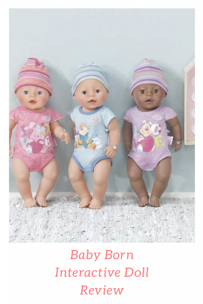 Baby Born Interactive Doll from Zapf Creation. The doll has 9 lifelike functions, perfect for varied role play encouraging children to have responsibility