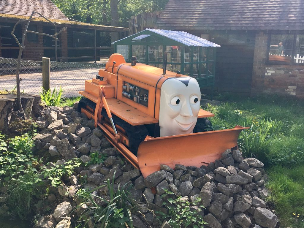 Drayton Manor theme park review Orange Terence tractor