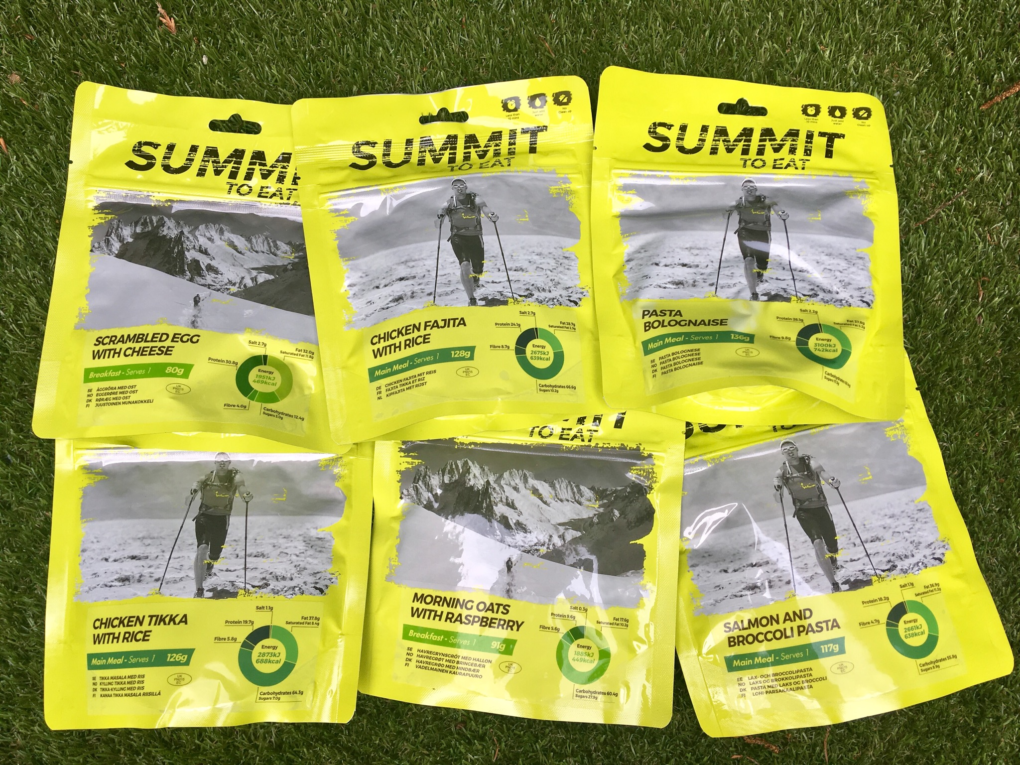 Summit to Eat review a photo of the meals in yellow packaging