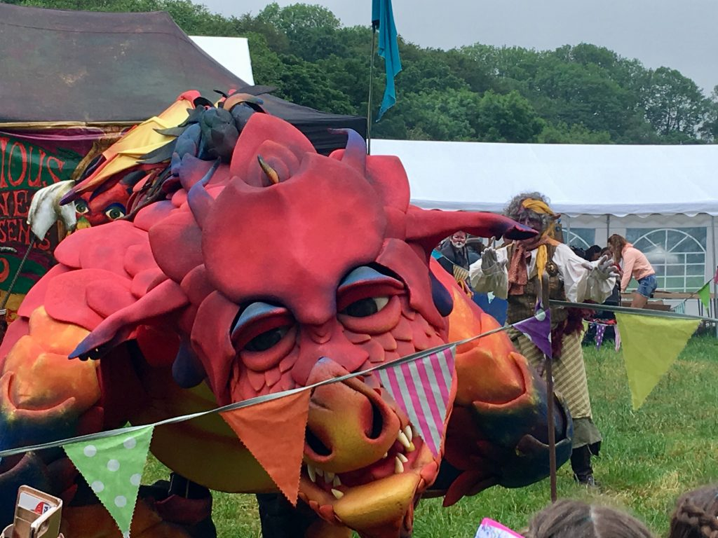 Down by the Riverside Festival review A red dragon