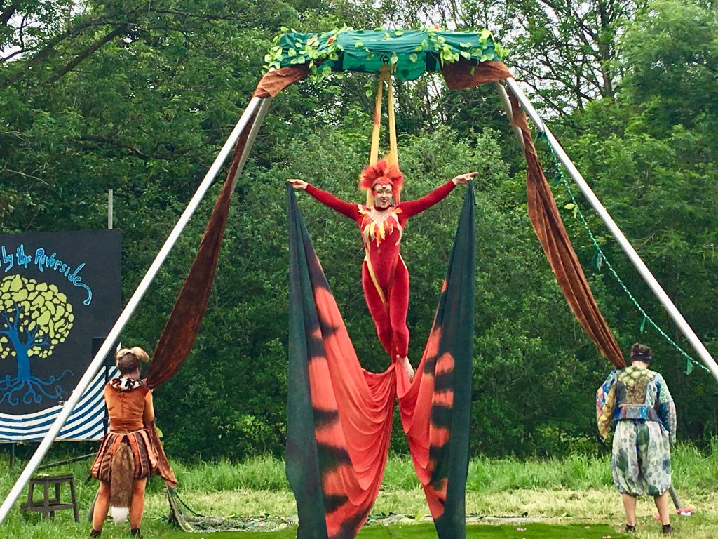 Down by the Riverside Festival review An acrobat as the Phoenix