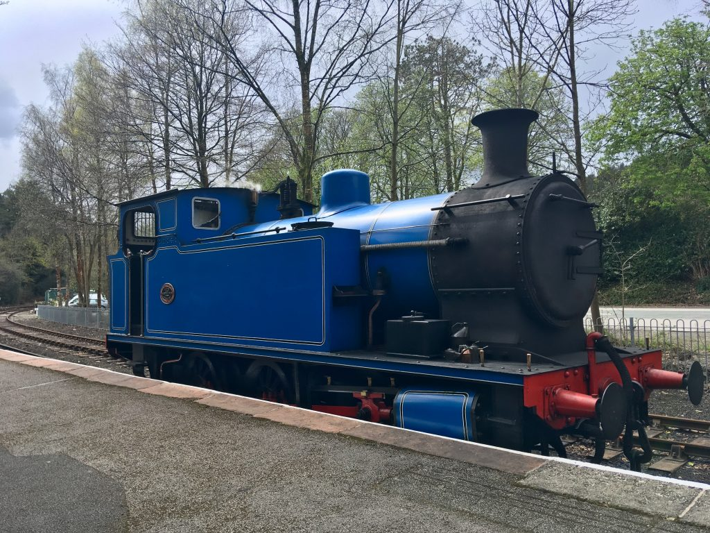 Lakeside and Haverthwaite Railway review A blue tank engine on the rails