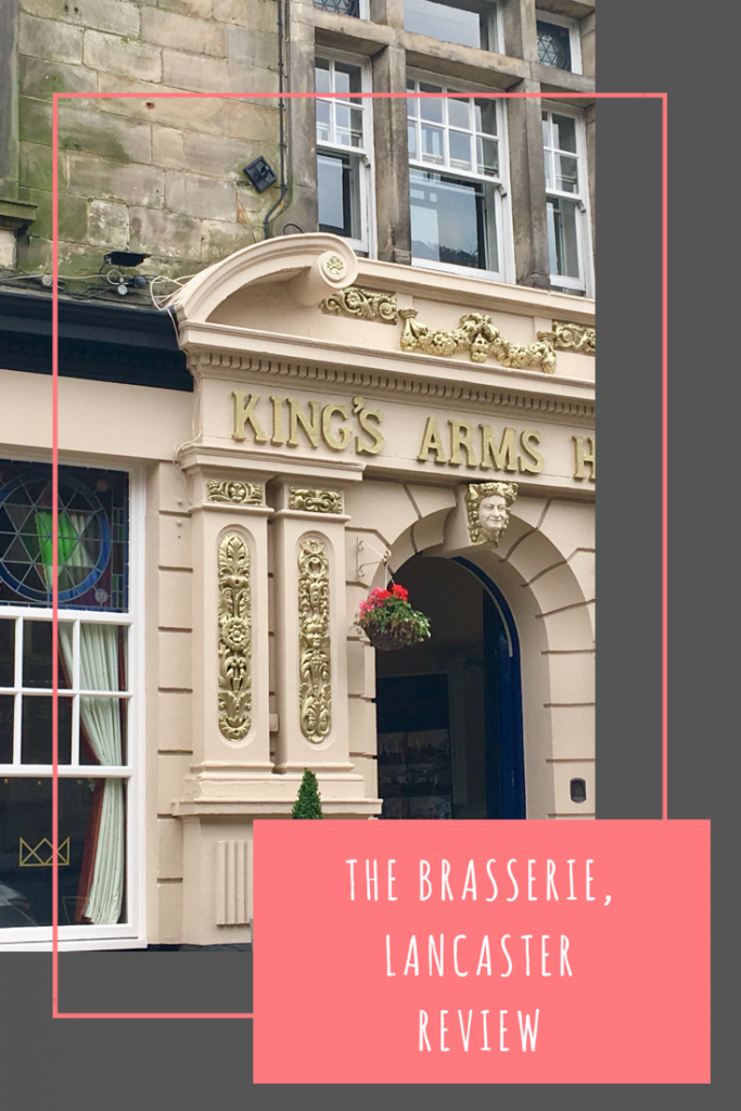 The Brasserie, Lancaster review. The Kings Arms Hotel is transforming into a luxury hotel with a new bar and restaurant. #brasserielancaster #lancaster #lancashire