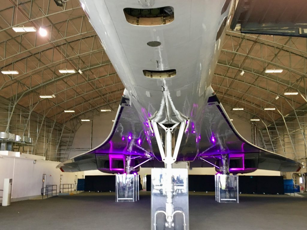 Manchester Runway Visitor Park review The undercarriage of the concorde