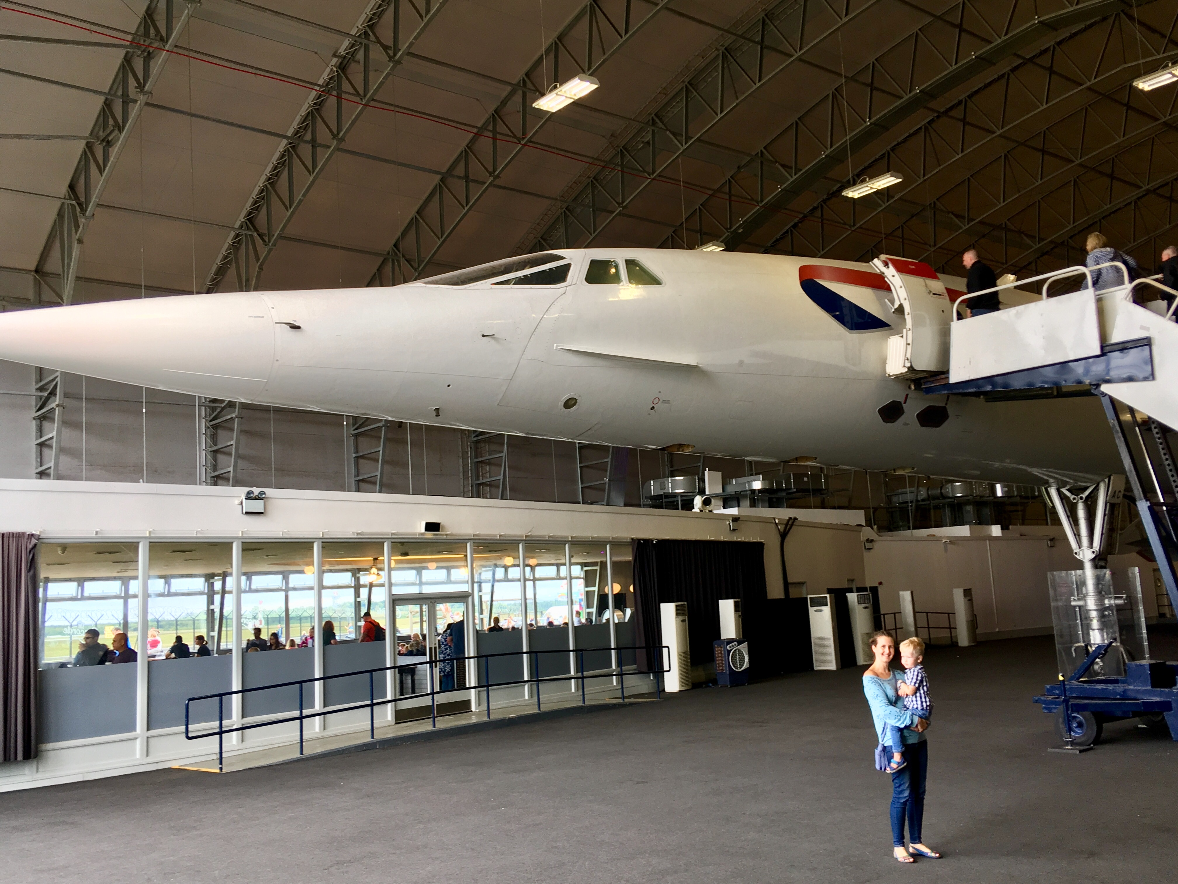 Manchester Runway Visitor Park review. Me and Lucas stood below the Concorde