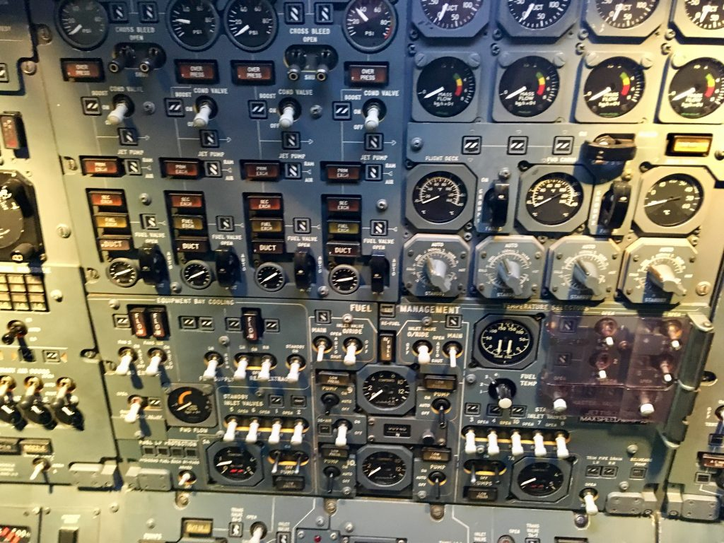 Manchester Runway Visitor Park review The buttons and controls on board the Concorde