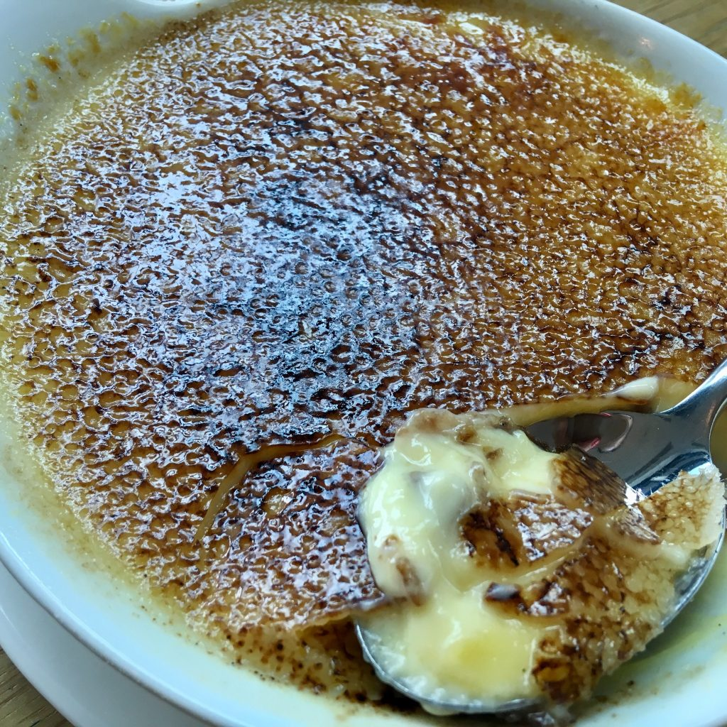 Wheelers of St. James, Liverpool review Creme brûlée cracked open with the spoon in