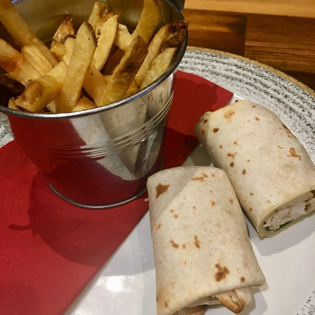Spitroast, Liverpool review Chicken wrap and chips