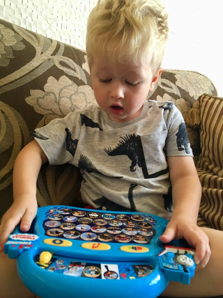 Thomas Alphaphonics review Lucas isn't looking down at the game with his mouth wide open