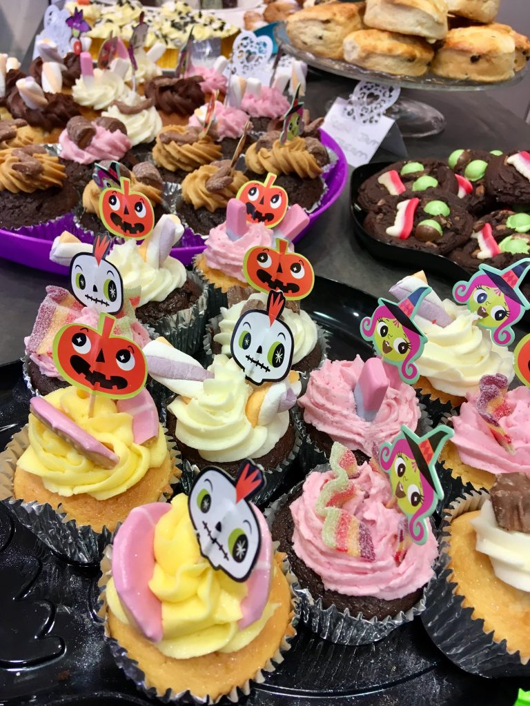 Affinity Lancashire Halloween decorated cupcakes