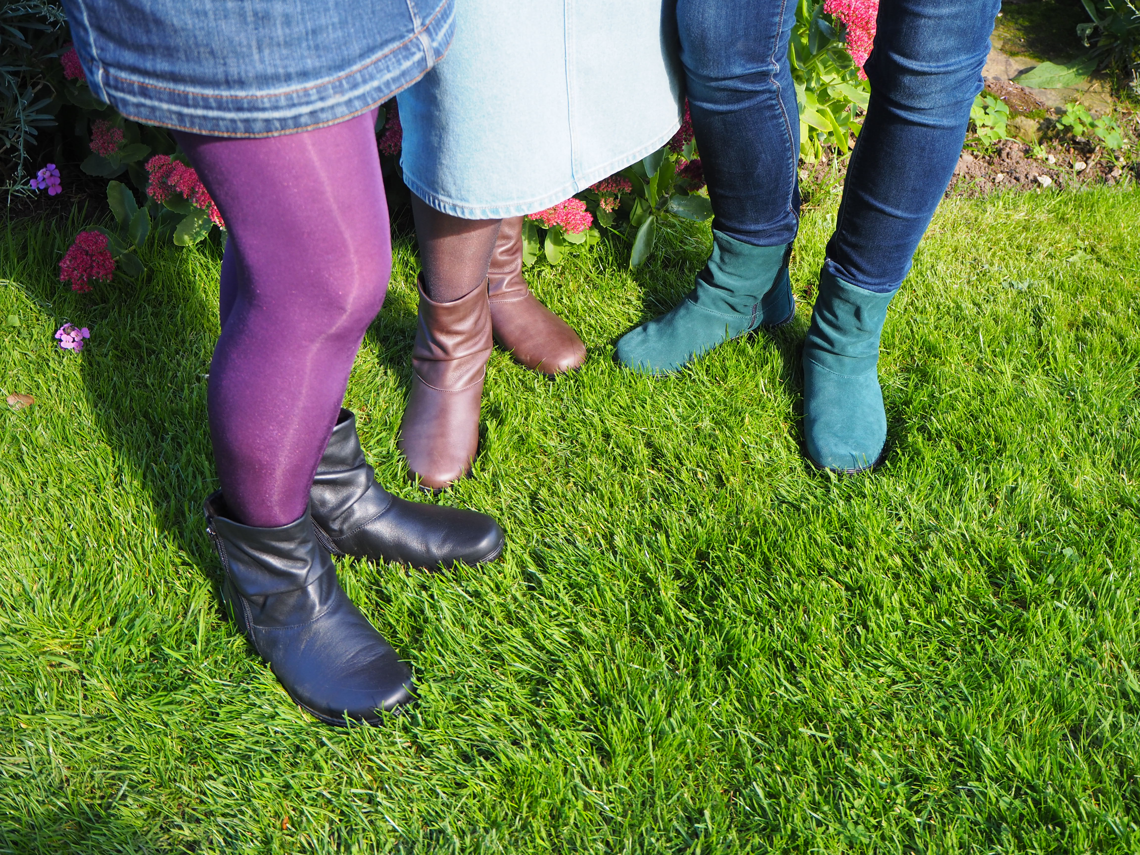 Hotter Whisper boots in 3 colours, teal, black and brown
