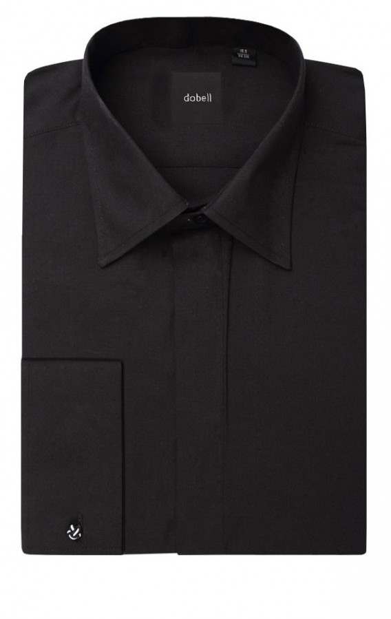 Men's gift ideas a plain black shirt folded up