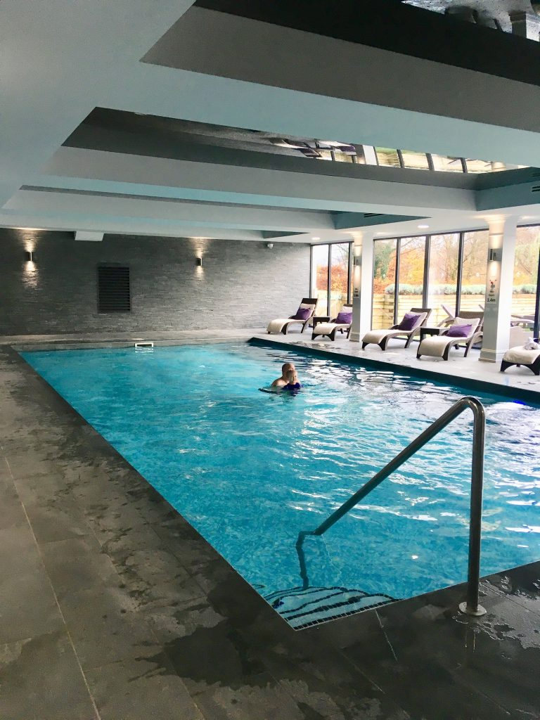 Beech Hill Hotel and Spa, Windermere review Lucas and D in the pool