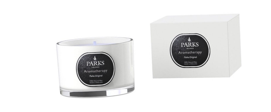 Valentines gift ideas 2019 parks candle against a white background