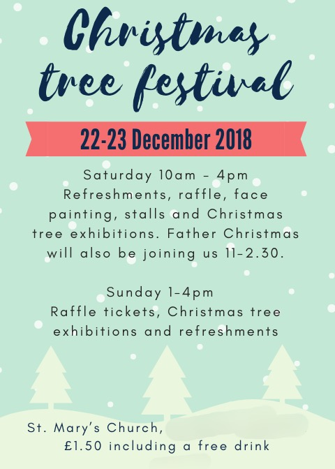 Organising a Christmas tree festival poster