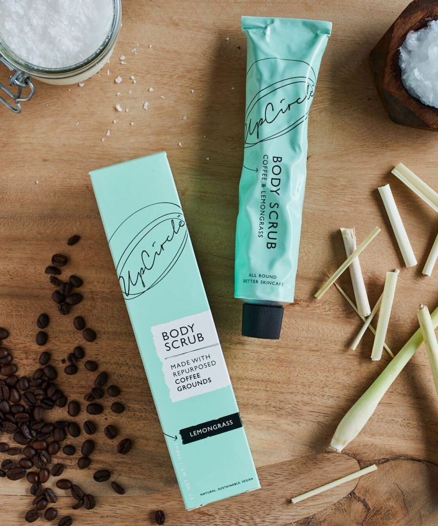 Valentines gift ideas the green packaging of the coffee scrub