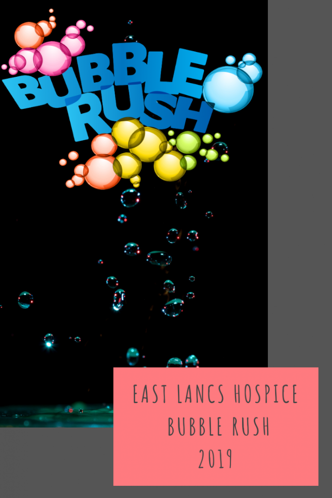 East Lancs Hospice Bubble Rush 2019 #BubbleRush5k #Lancashire #charity #fundraising