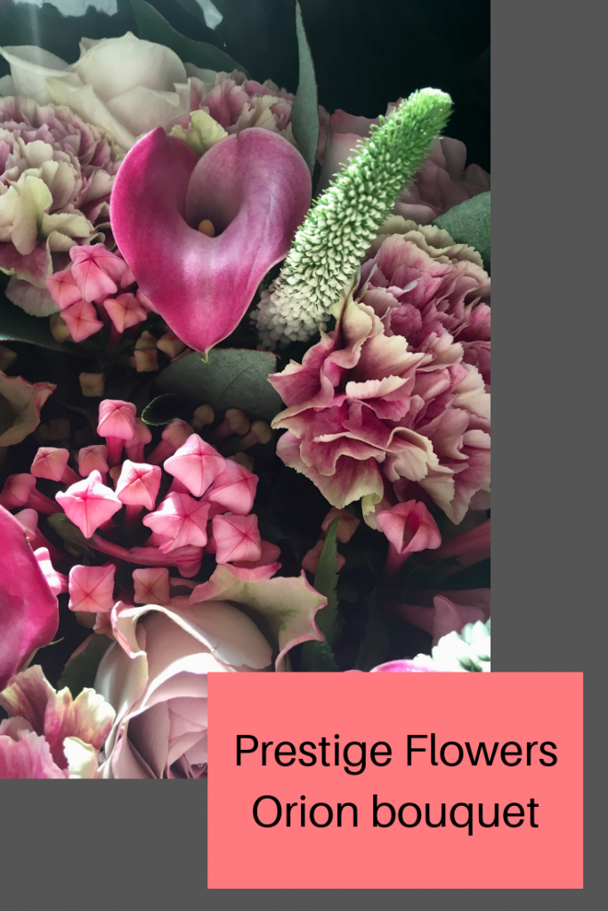 Prestige Flowers Mother's Day review the Orion bouquet