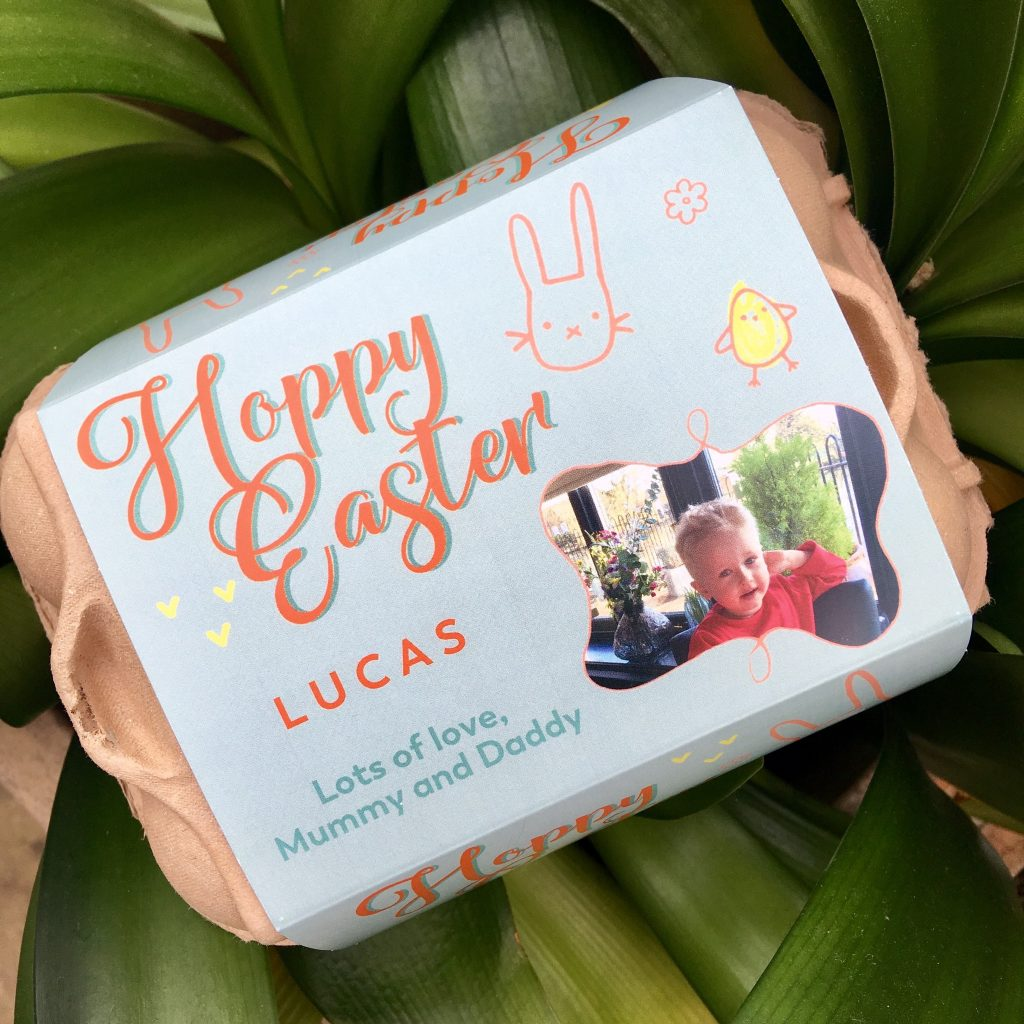 Easter gift ideas personalised Easter egg box