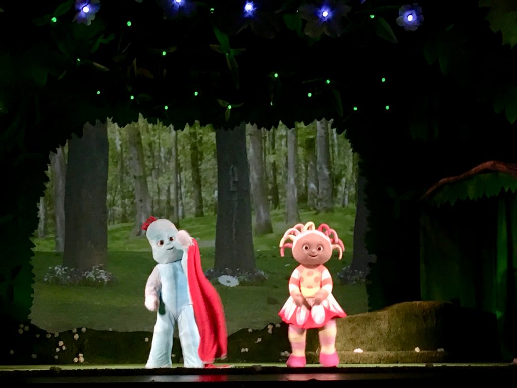 In the Night Garden Live 2019. Iggle Piggle and Upsy Daisy onnstage