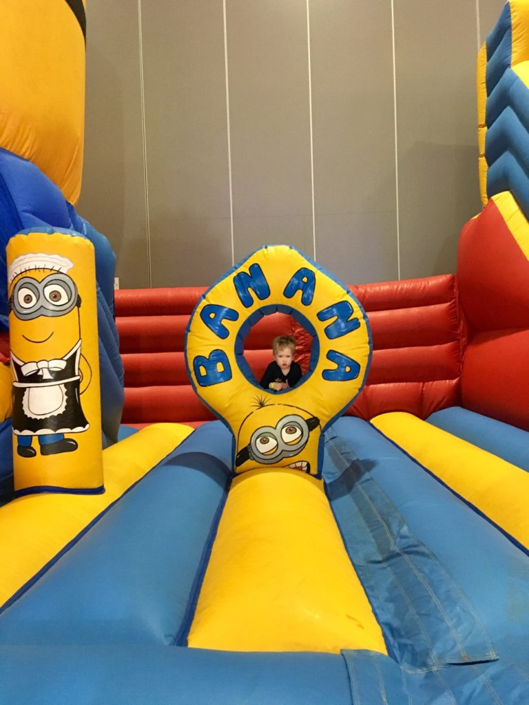 The indoor funfair, Liverpool review, an inflatable minion play area