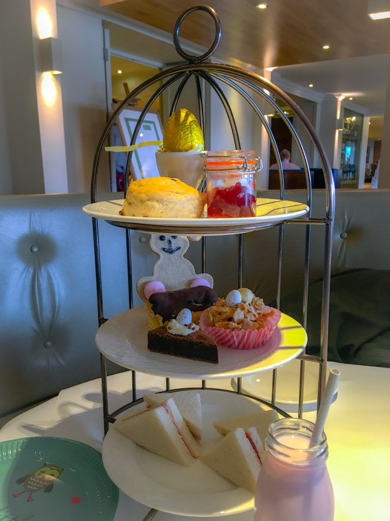 Children's Easter afternoon tea stand cottons hotel and spa, Knutsford