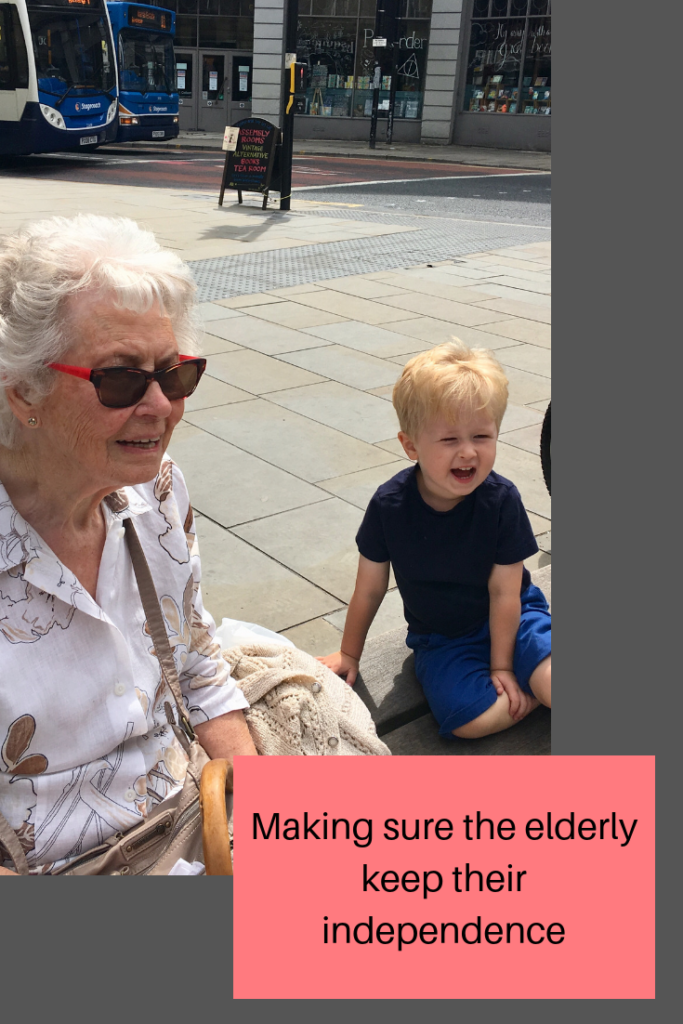 Making sure the elderly keep their independence
