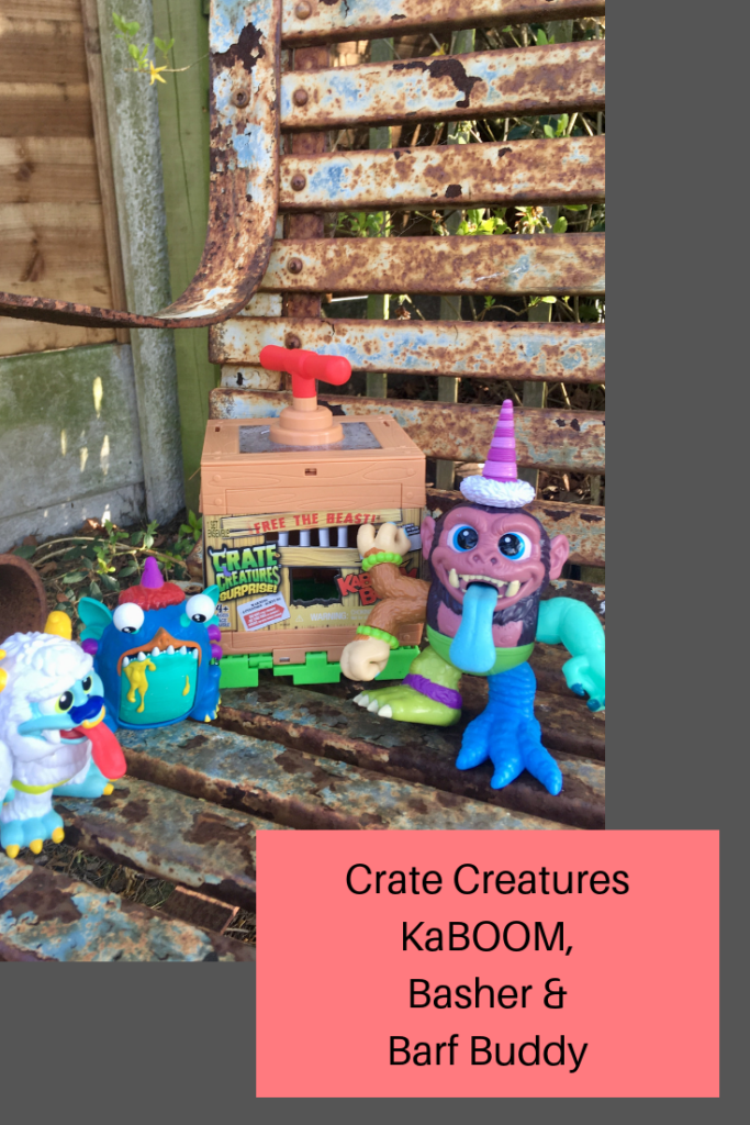 Crate Creatures interchangeable KaBOOM monsters, slime barf buddy and Basher #childrenstoys #cratecreatures