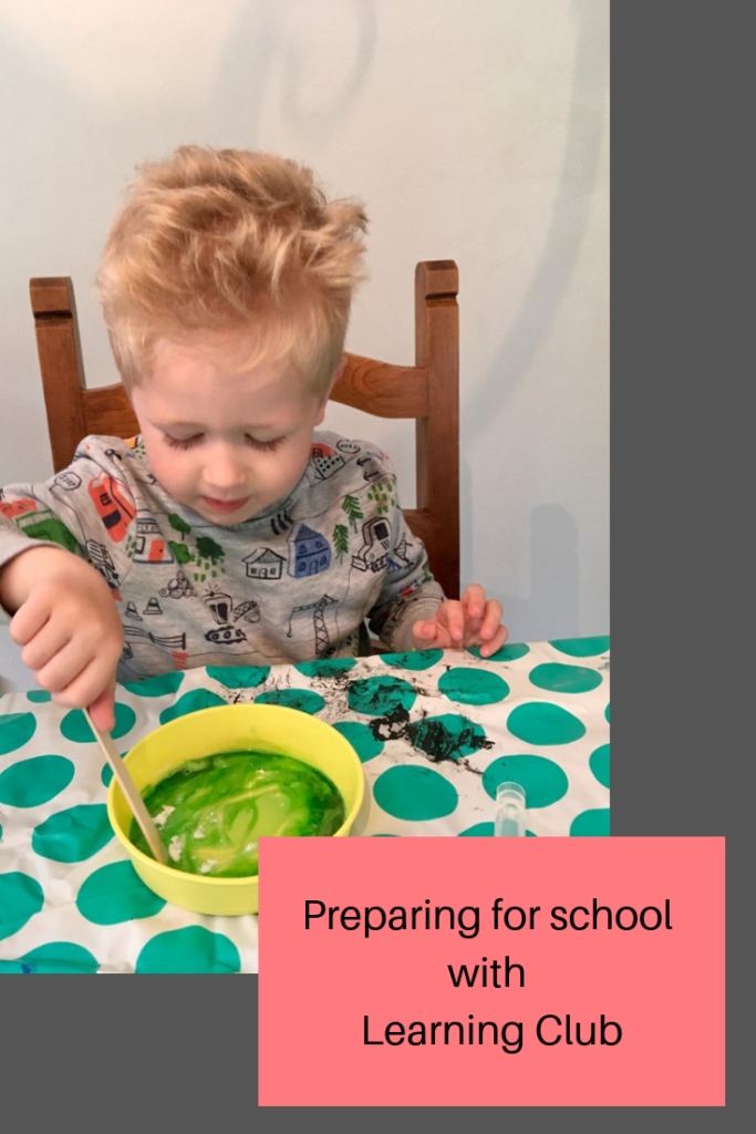 Preparing for starting school with Learning Club
