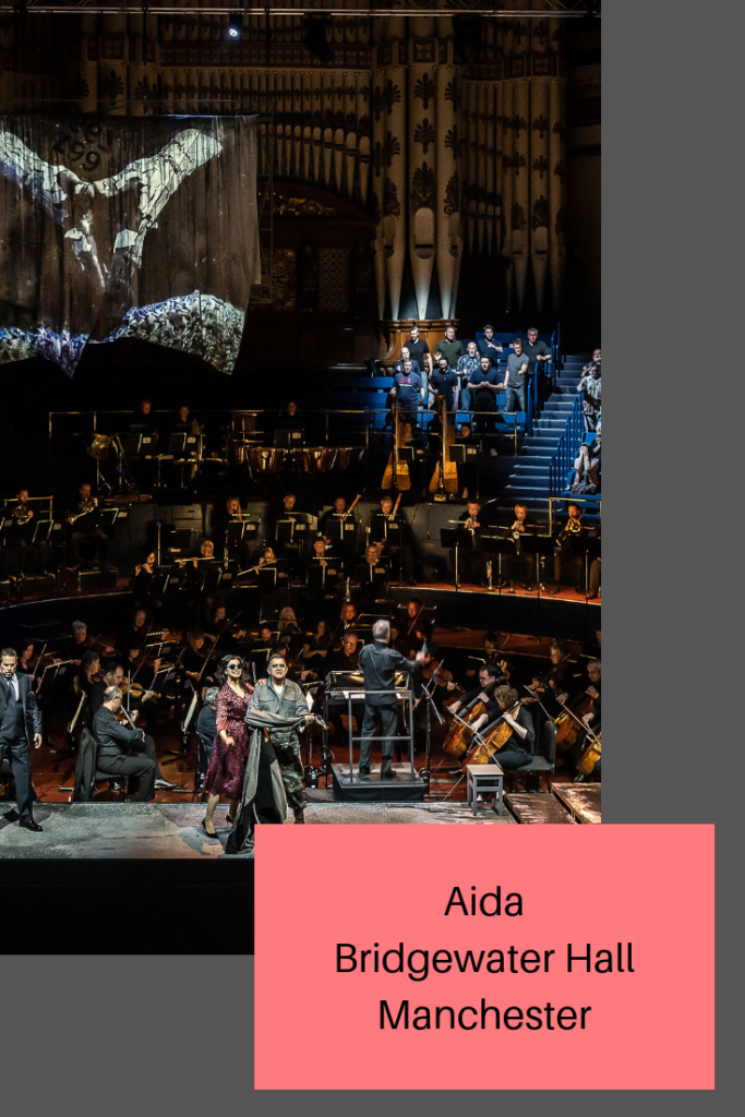 We went to watch the opera Aida at the Bridgewater Hall in Manchester. A production by Opera North