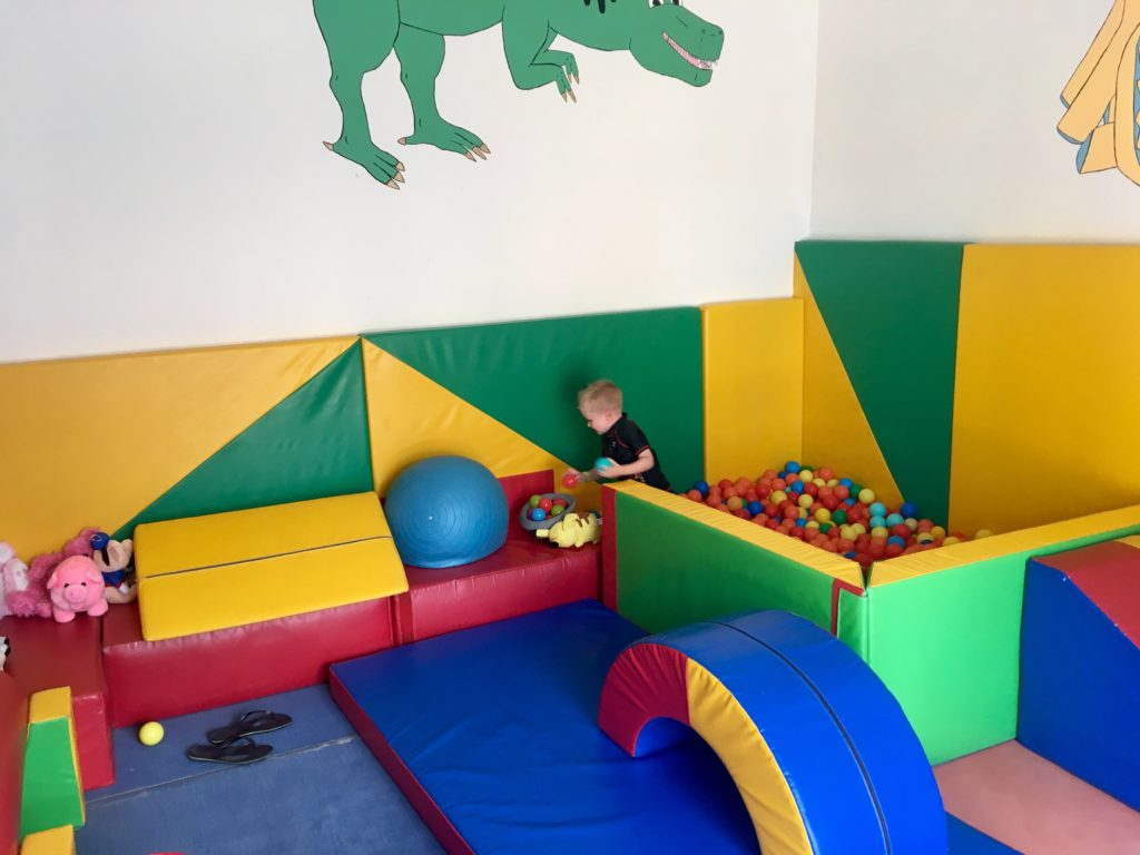 Lucas playing in the soft play room