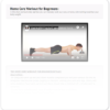 GynWolfPT core exercise plan on tablet