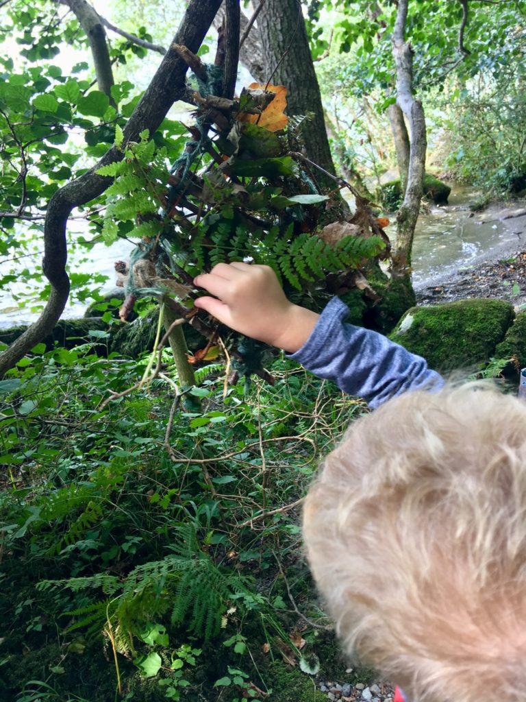 Lucas doing forest weaving