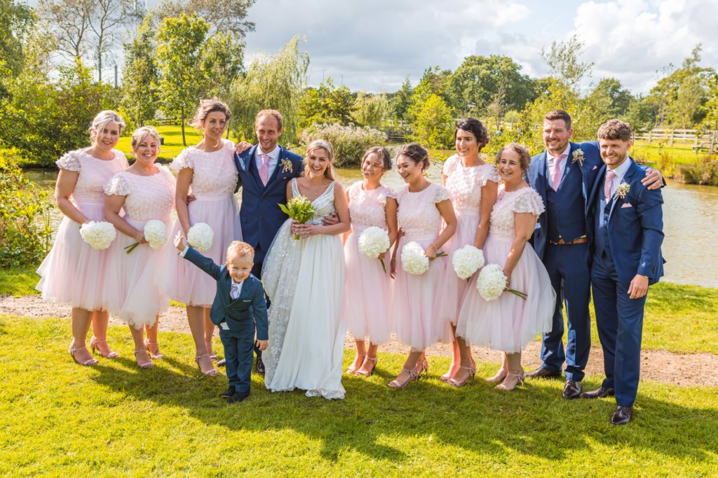 Lucas with the wedding party