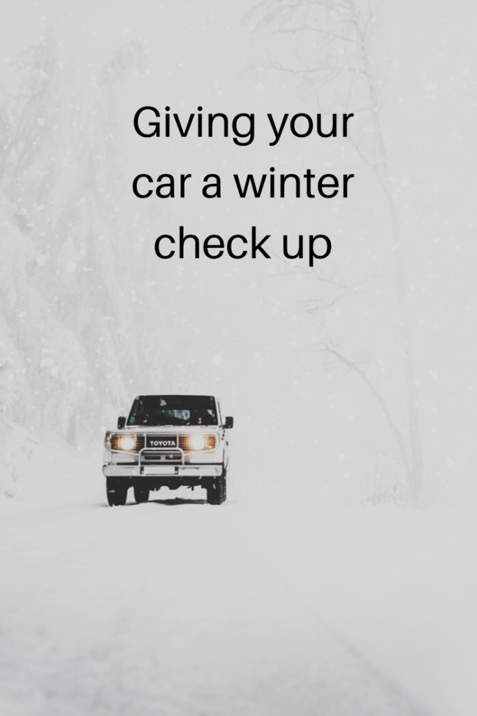 Giving your car a winter check up
