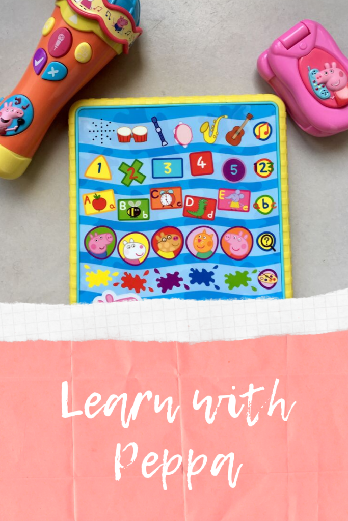 Learn with Peppa. Peppa Pig Toys that encourage learning of letters, phonics, colours and shapes #Learnwithpeppa